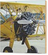 1943 Boeing Super Stearman 2 Wood Print