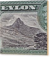 1946 Ceylon - Sri Lanka - Stamp Wood Print