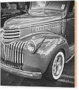 1946 Chevrolet Sedan Panel Delivery Truck Bw Wood Print