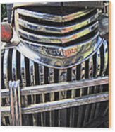 1946 Chevrolet Truck Chrome Grill Wood Print