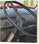 1946 Chevy Dash Wood Print