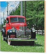1946 Chevy Short Bed Wood Print by Andres LaBrada