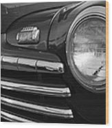 1946 Ford Deluxe 2 Door Sedan Head Light Wood Print