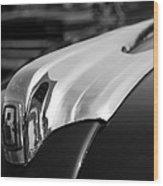 1946 Ford Deluxe 2 Door Sedan Hood Ornament Wood Print