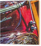 1946 Ford Super Deluxe Sportsman Convertible Side Emblem Wood Print