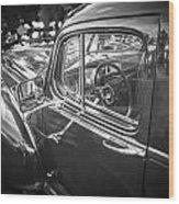 1946 Hudson Super Six Sedan Bw Wood Print