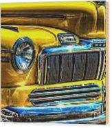 1946 Mercury Eight Street Rod Grille Wood Print
