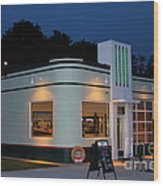 1947 Amoco Gas Station Wood Print