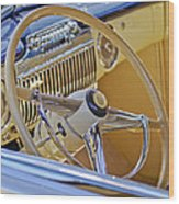1947 Cadillac 62 Steering Wheel Wood Print