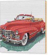 Cadillac Series 62 Convertible Wood Print