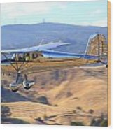 1947 Cessna 140 Fly-by N4151n Wood Print