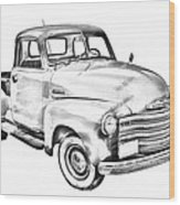 1947 Chevrolet Thriftmaster Pickup Illustration Wood Print