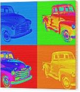 1947 Chevrolet Thriftmaster Pickup Pop Art Wood Print