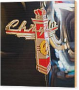 1947 Chrysler New Yorker Town And Country Convertible Emblem Wood Print