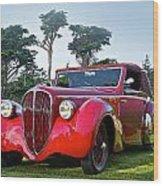 1947 Delahaye 135m Pennock Cabriot II Wood Print