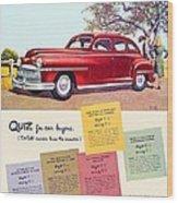 1947 - Desoto Automobile Advertisement - Color Wood Print