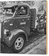1947 Ford Coca Cola C.o.e. Delivery Truck Bw Wood Print