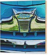 1947 Ford Deluxe Grille Ornament -0700c Wood Print