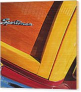 1947 Ford Super Deluxe Sportsman Convertible Taillight Emblem Wood Print