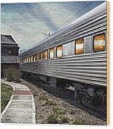 1947 Pullman Coach Train Car Textured Wood Print