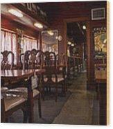 1947 Pullman Railroad Car Dining Room Wood Print
