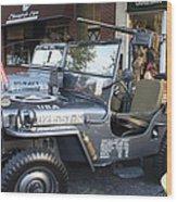 1947 Us Army Jeep Side View Wood Print