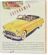 1948 - Oldsmobile Convertible Automobile Advertisement - Color Wood Print