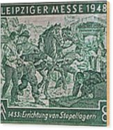 1948 Allied Occupation German Stamp Wood Print