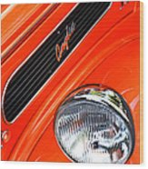 1948 Anglia 2-door Sedan Grille Emblem Wood Print