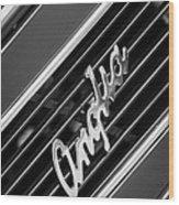 1948 Anglia Grille Emblem -510bw Wood Print