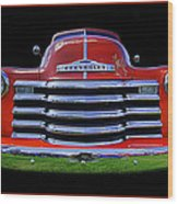 1948 Chevy Pickup W/badge Wood Print