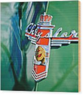 1948 Chrysler Town And Country Convertible Emblem -0974c Wood Print