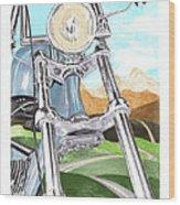 1948 Harley Davidson W L A Wood Print