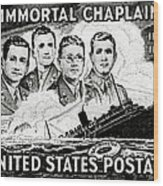 1948 Immortal Chaplains Stamp Wood Print