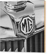 1948 Mg Tc Hood Ornament -767bw Wood Print