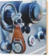 1948 Mg Tc Key Ring Wood Print