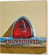 1948 Plymouth Deluxe Emblem Wood Print