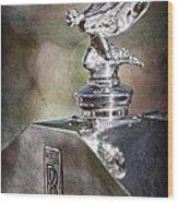1948 Rolls-royce Hood Ornament - Emblem Wood Print