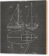 1948 Sailboat Patent Artwork - Gray Wood Print