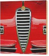 1949 Alfa Romeo 6c 2500 Ss Pininfarina Cabriolet Grille Wood Print