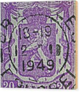1949 Belgium Stamp - Brussels Cancelled Wood Print