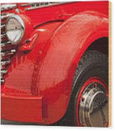 1949 Diamond T Truck Front End Wood Print
