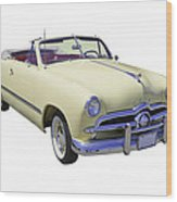1949 Ford Custom Deluxe Convertible Wood Print