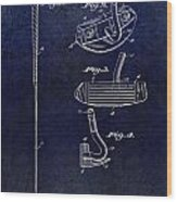 1949 Golf Putter Patent Drawing Blue Wood Print