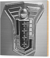 1949 Mercury Station Wagon Emblem Wood Print