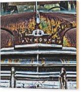 1949 Plymouth Wood Print by Thomas Kessler