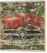 1949 Red Ford Coupe Wood Print