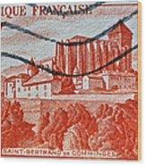 1949 Republique Francaise Stamp Wood Print