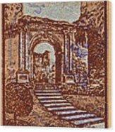1949 San Francisco Ruins Dominican Republic Stamp Wood Print