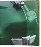 1949 Studebaker Champion Hood Ornament Wood Print by Jill Reger